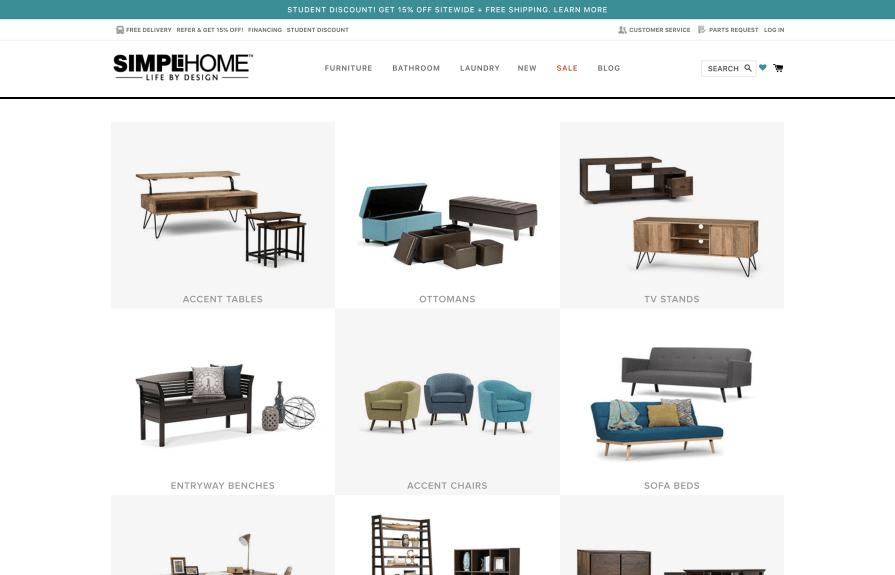 Simpli Home Shopify Plus Design