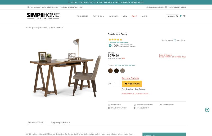 Simpli Home Magento to Shopify Plus Migration