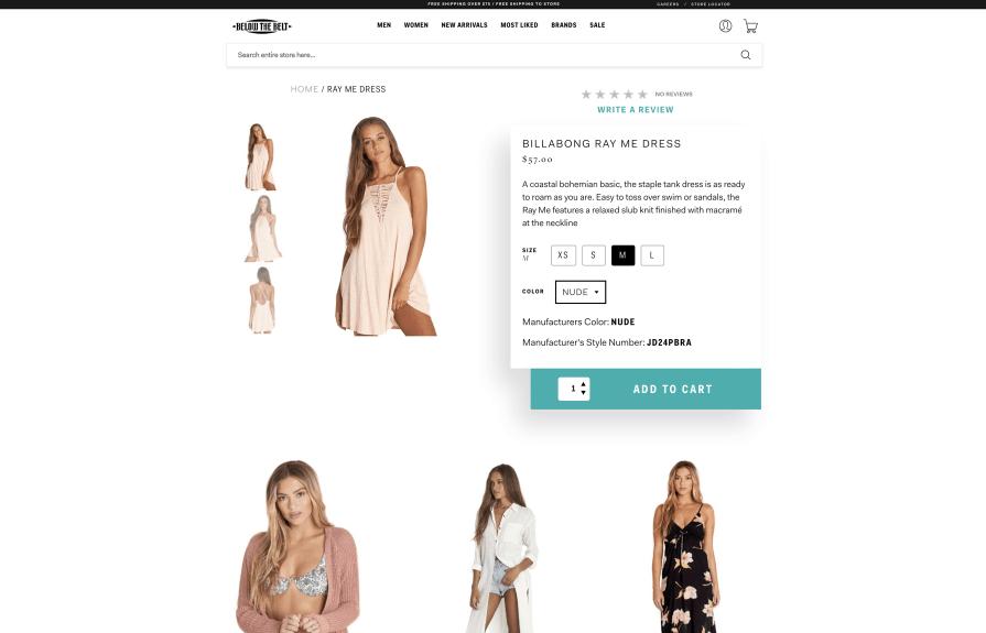 Below The Belt Shopify Plus + Retail Pro Integration