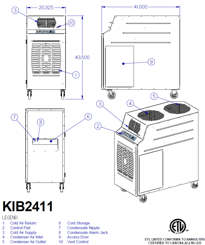 KwiKool KIB2411-2 Diagram