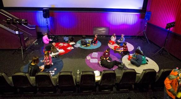 Portable Church children's ministry movie theater church