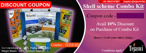 3x3 mtr 2 side open stall discount coupon