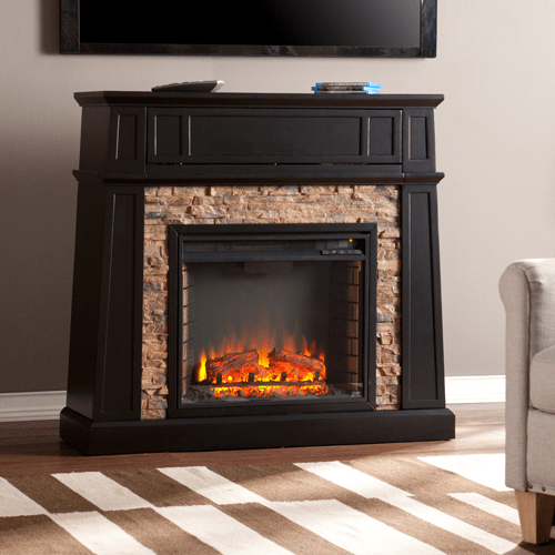 Blach Stone Electric Fireplace Costco