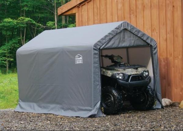 6ft Wide Motorcycle Amp ATV Polyethylene Carport Shelters Instant Storage Buildings