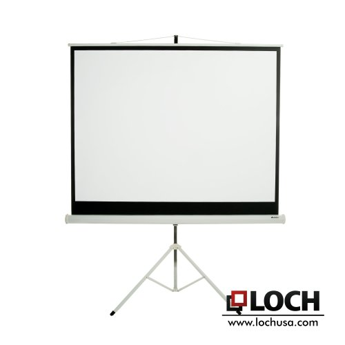 loch matte white diagonal portable projector screen