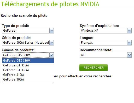 nVIDIA GeForce 300M