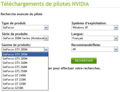 nVIDIA GeForce GTX 285M