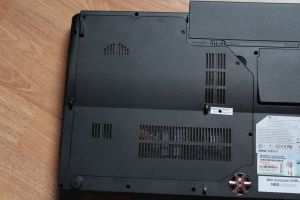 MSI GX740 - Le dessous