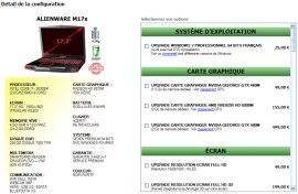 Alienware M17x OP-RENTREE Dell