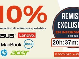 10% sur les PC portables sur CDiscount
