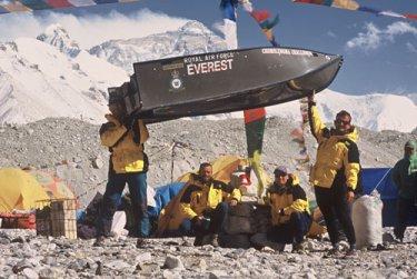 Porta-Bote auf dem Mount Everest.