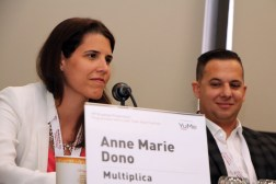 Anne Marie Donno from Multiplica and Affiperf's Victor Lopez during a panel on Programmatic