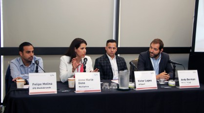 IPG's Felipe Molina, Anne Marie Dono, Victo López & and Global Mind's Andy Berman