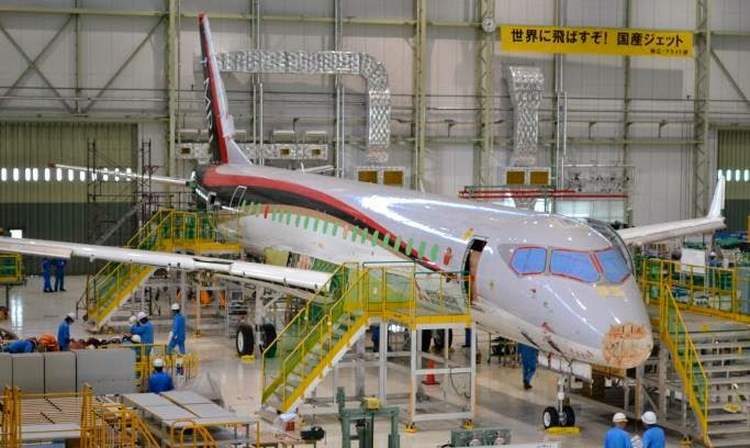 Le Mitsubishi Regional Jet a désormais des ailes !