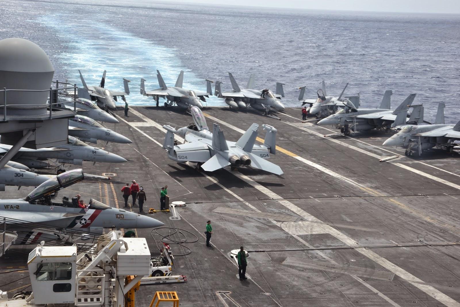 A bord de l'USS Ronald Reagan