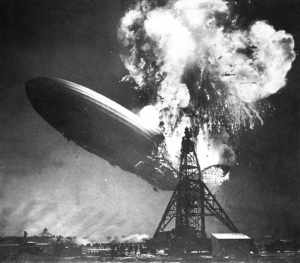 Crash de l'Hindenburg à Lakehurst le 6 Mai 1937