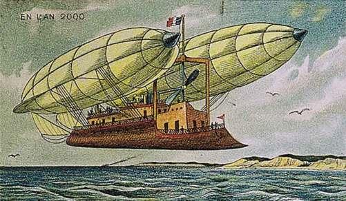 Dirigeable du futur (en l'an 2000), tel qu'imaginé en 1910