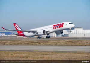 Décollage de l'A350 depuis Toulouse