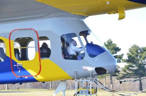 Vue de la cabine du Goodyear NT2