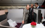 Inauguration du premier 777 qatari équipé d'une Qsuite