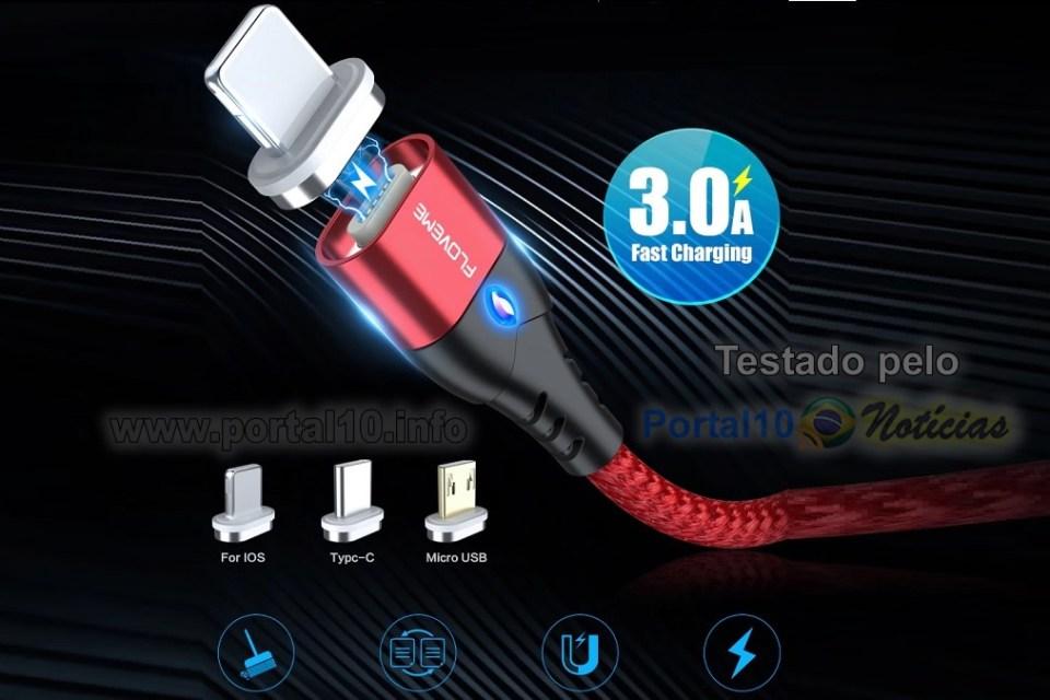 Cabo Magnético para carregador de celular – Teste e Review