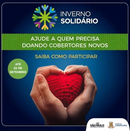 Carapicuíba está participando da Campanha estadual 'Inverno Solidário'