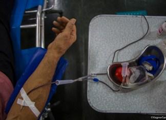 A capacidade de coleta de bolsas de sangue é limitada, mas ainda há cerca de 50 vagas para doadores participarem nos dois dias de ação que acontece na Faculdade Estácio de Sá