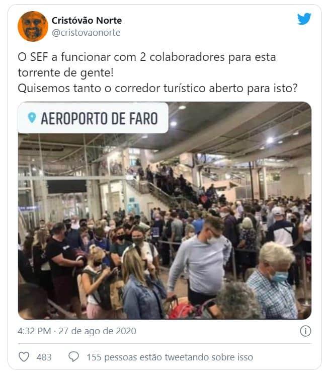 faro1 Número de inspetores reforçado no Aeroporto de Faro depois de congestionamento no controlo de passageiros