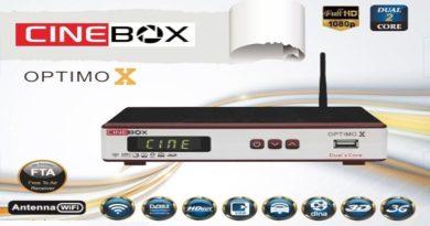 CINEBOX OPTIMO X NOVA ATUALIZAÇÃO – 16/09/2019