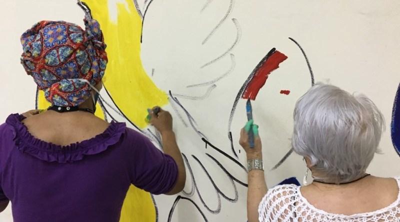 Pela humanização da velhice: Grafite