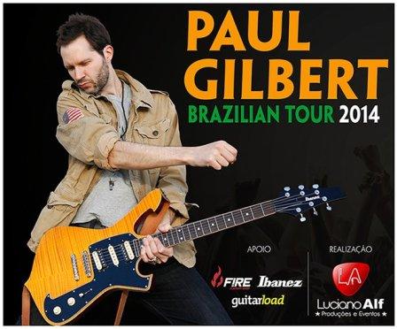 Guitarrista do Mr. Big fará série de workshops pelo Brasil