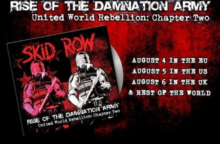 "Capa de ""Rise of the Damnation Army - United World Rebellion: Chapter Two"", novo EP do Skid Row"