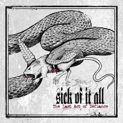 "Capa de ""The Last Act of Defiance"", o próximo disco do Sick of It All"