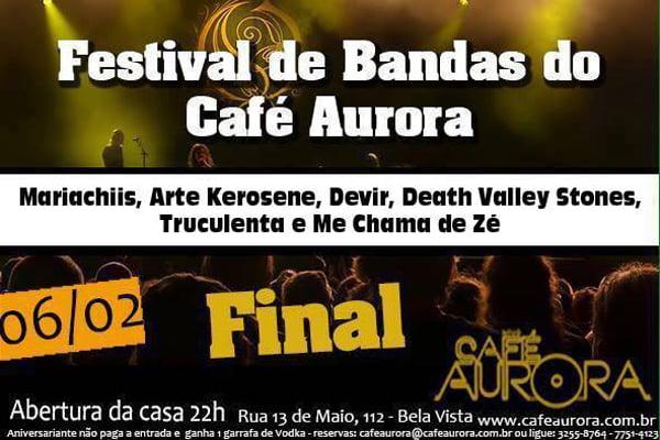 Café Aurora: final do festival de bandas autorais acontece neste sábado (06/02)
