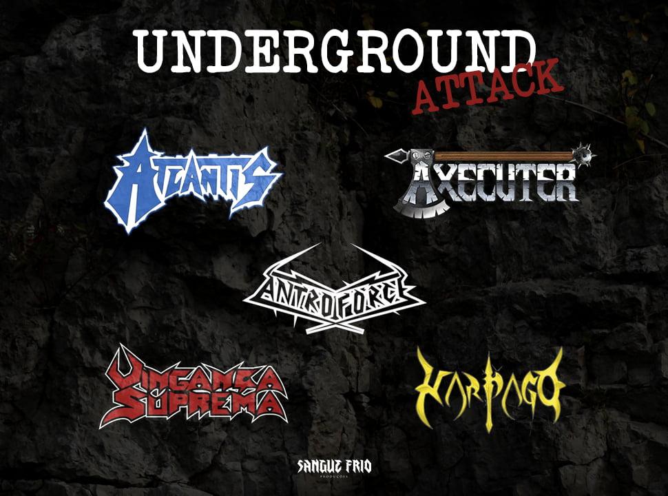Underground Attack: cinco bandas unidas em três shows pelo Sul do Brasil