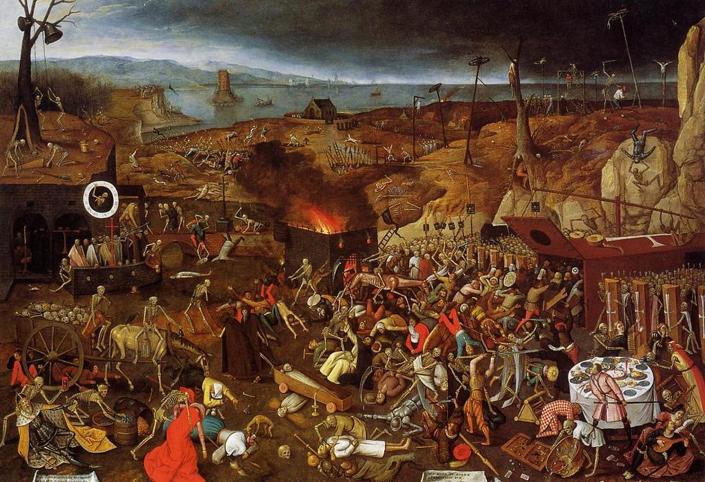 Brutal Morticínio: triunfo da morte de Pieter Bruegel