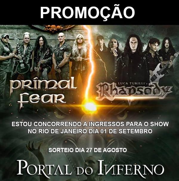 PROMOÇÃO: concorra a ingressos para o show do Primal Fear e Luca Turilli's Rhapsody no Rio de Janeiro