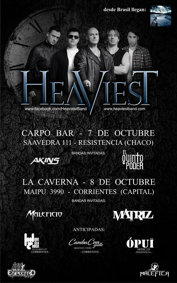 Heaviest embarca para mini turnê na Argentina neste final de semana