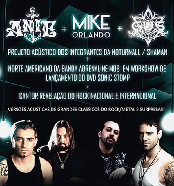 Adrenaline Mob: guitarrista Mike Orlando vem para o Brasil para turnê com a ANIE em novembro