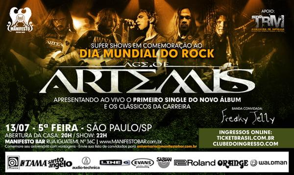 Age of Artemis confirma participação de Fernando Quesada e Junior Carelli da Noturnall em show de São Paulo