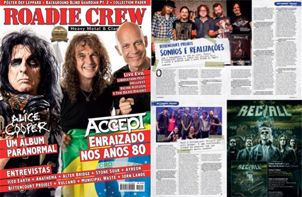 """Bittencourt Project: """"Faço o trabalho com a banda por puro prazer"""", diz Rafael em entrevista na Roadie Crew ed. #223"""
