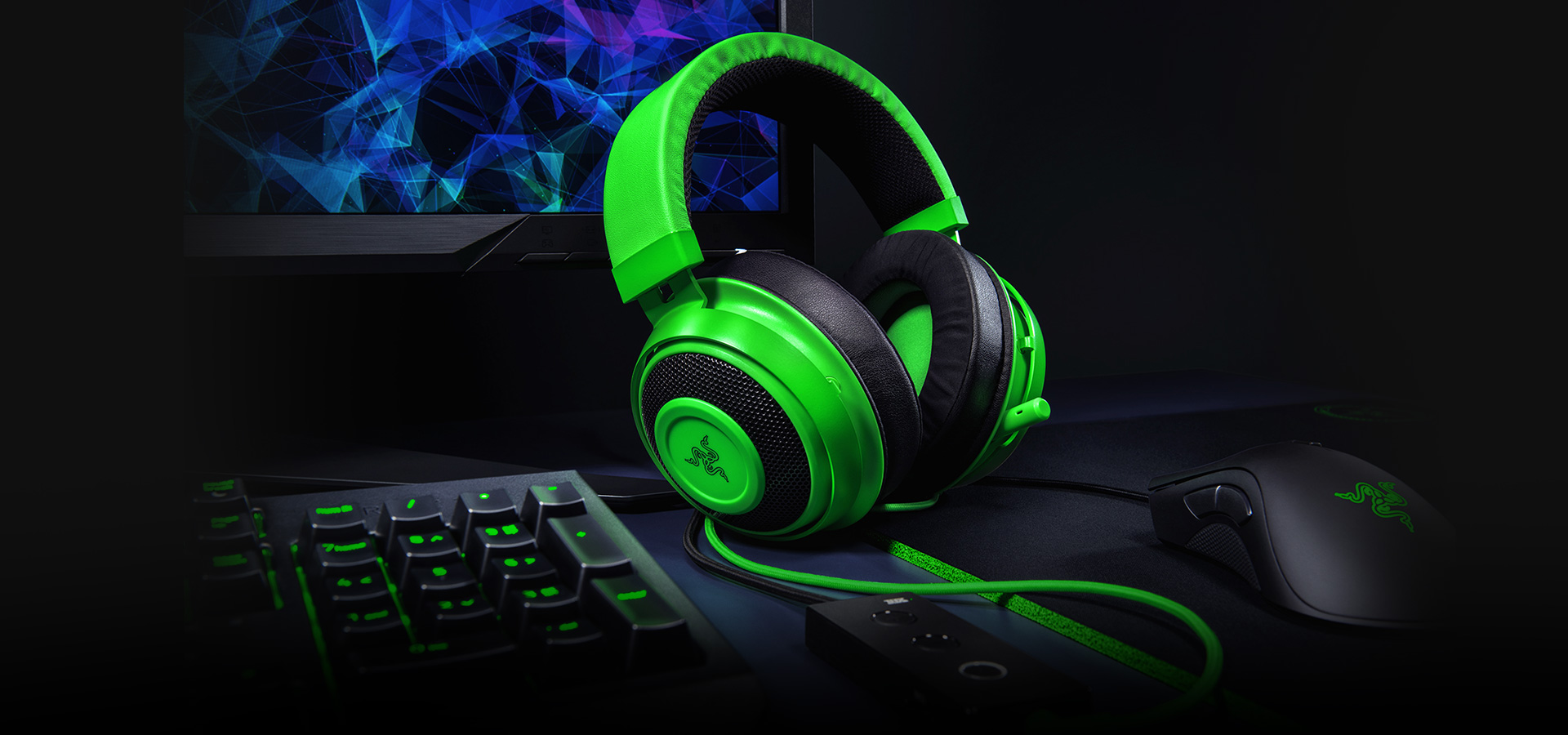 razer kraken te gaming headset hero