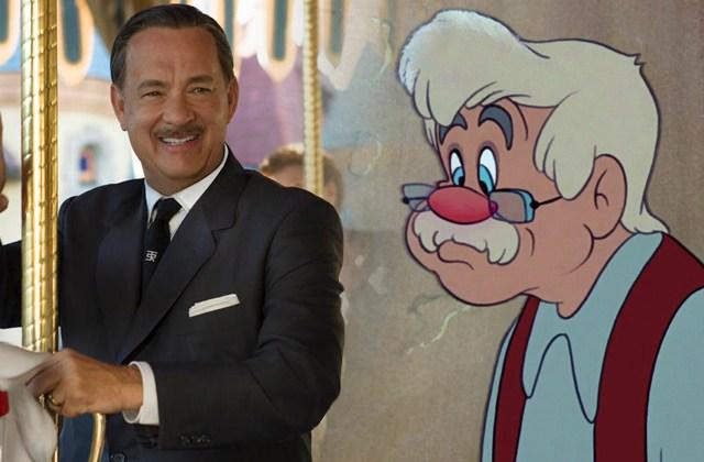Tom Hanks e Pinóquio