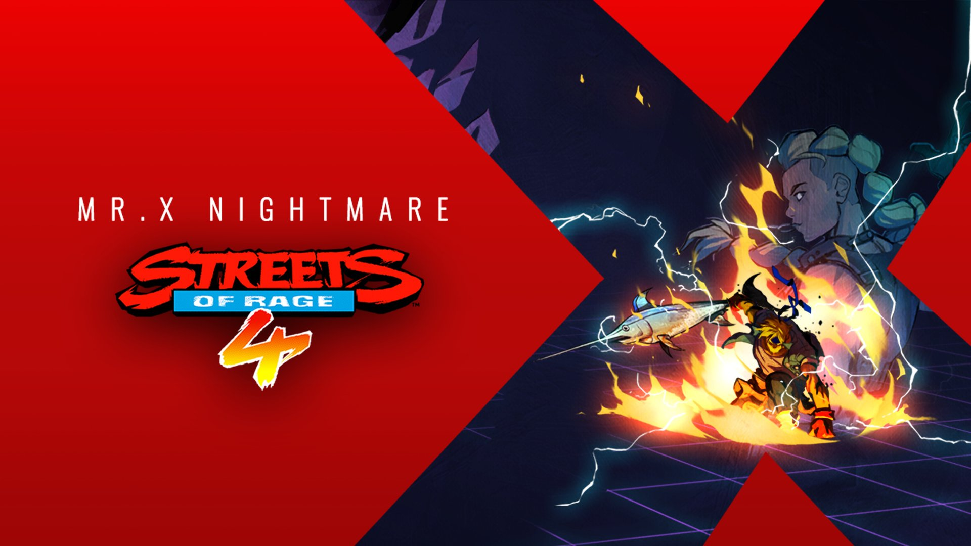 streets of rage 4 mr x nightmare dlc.original