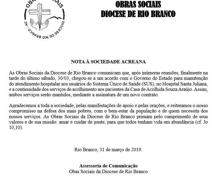 Santa Juliana mantém as portas abertas para o SUS
