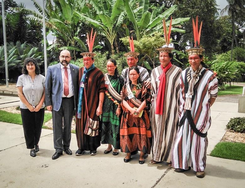 Lideranças ashaninkas dialogam ações ambientais com embaixada alemã