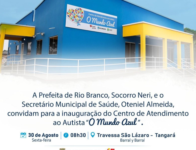 Prefeita Socorro Neri inaugura Centro de Atendimento ao Autista nesta sexta-feira, 30