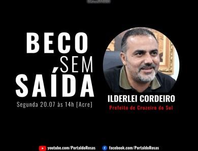 Beco sem Saída: Ildelei Cordeiro é o entrevistado desta segunda-feira