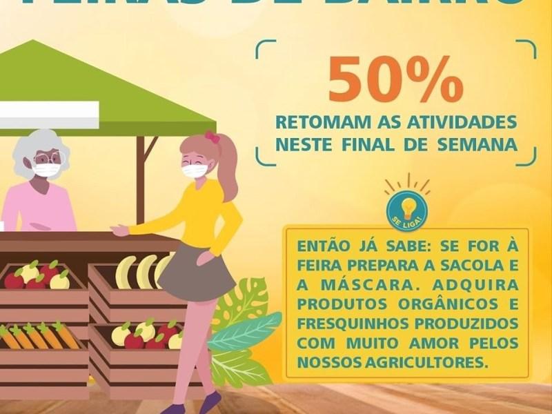 Feiras livres de Rio Branco retornam com supervisão da prefeitura