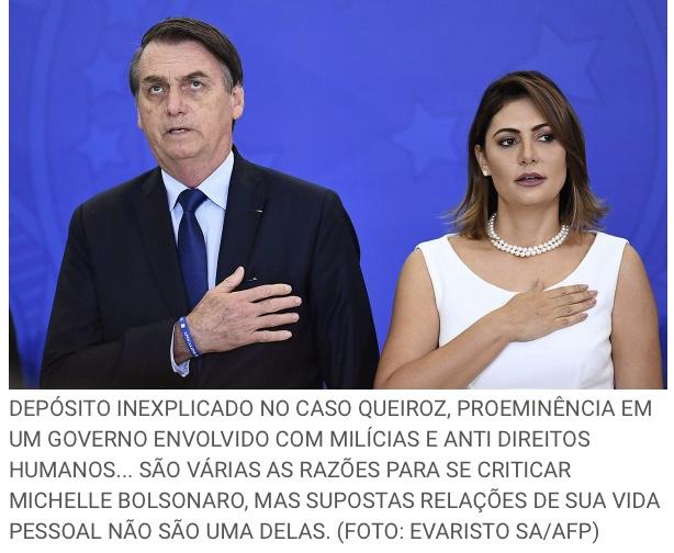 Movimento no Twitter cobra Bolsonaro por depósitos de Queiroz em conta de Michelle